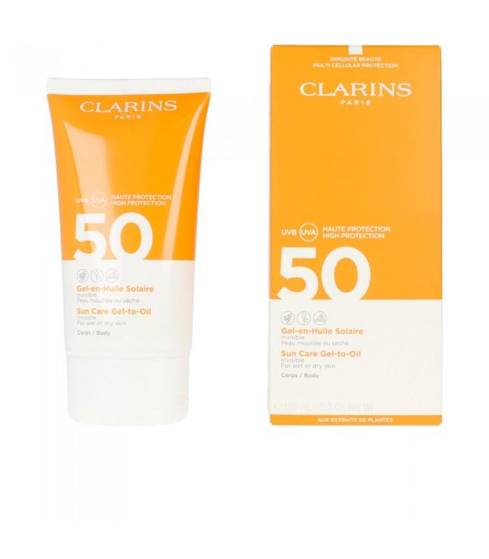 CLARINS BODY SUN CARE GEL TO OIL SPRAY F50+